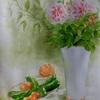 2016年:7月 『夏のイメージを描く - ダリアと夏野菜』
