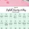 駐在中に毎日コツコツ!【無料】英語勉強チャレンジカレンダー!