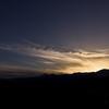 今日の夕焼け空は透き通る雲がオレンジ色に染まって綺麗でした。【長野県大町市】
