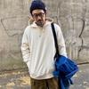 トレンドのエクリュカラー。2XLで着るユニクロのスウェットプルパーカ【UNIQLOメンズ】