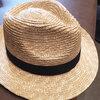 暑い夏は田中帽子店のストローハットで日差しをしのぐ