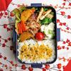 #717 豚肉とサツマイモのオイスターソース炒め弁当