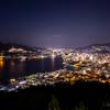 【夜景】 長崎県 鍋冠山公園から長崎市の夕景と夜景