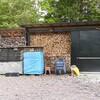 薪小屋に、お客さんが!