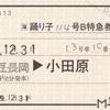 踊り子114号 B特急券(繁忙期)