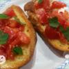 トマトと紫蘇のブルスケッタ