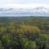 春色パレット~残雪の山と春紅葉