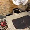 寒空の薪ストーブの煙突掃除の巻