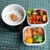 #281 揚げ鶏とサツマイモのケチャップ和え弁当