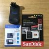 GoPro用のSDカードとアクセサリー届いた