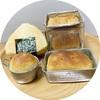 焼きおにぎり型ご飯パンと百均の缶で焼いたご飯パン