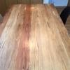 建築資材で造作したダイニングテーブル