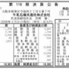 牛乳石鹸共進社株式会社 第116期決算公告