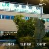 餃子像とJR宇都宮駅まで夜ジョグ。