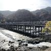紅葉彩る嵐山に悠然と佇む秋風そよぐ「渡月橋」