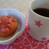 コーヒーにミニドーナツにイチゴバター~