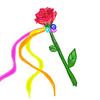 【少人数人前式】承認の鈴をお花のリボンワンズに付けたよ!
