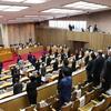 臨時議会閉会、補正予算が全会一致で可決