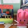 4年生:ロッカーの上に「ギコギコトントン」作品展示