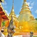 「ワット プラシン( Wat Phra Singh)」~チェンマイで最も格式が高い黄金のパゴダが眩しい寺院!!