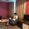 品川プリンスホテルにお泊まり。有名な朝食バイキング、ハプナ!