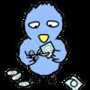 商用フリーイラスト「写真を丸く切る青い鳥」