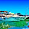 ヨットのある風景写真を鈴木英人風イラストに加工してみた
