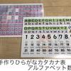 DIY 簡単手作りひらがなカタカナ表・アルファベット数字表 作成・完成