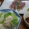 小田保で牡蠣豆腐と鯵酢