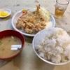 初声町下宮田の「まるい食堂」でアジ・からあげ定食&ごはん大盛
