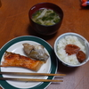 幸運な病のレシピ( 2183 )朝:鮭、イシモチ煮付け、手羽先下ごしらえ、マユのご飯