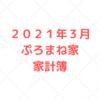 【家計管理 結果 検証】2021年3月度 家計簿
