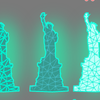 バーチャルっぽいイラスト・イメージ表現を作ってみる【XD】