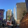 圧倒されたニューヨークの街並み