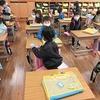 1年生:教室の荷物を整理