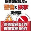 京都市長選の脱法?事前選挙運動