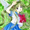 「初夏の天使」:セーラー服天使スキャン取り直し画像アップ:安くて評価高い色鉛筆に心揺れまくり