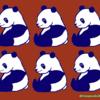 ビターチョコレートなパンダのイラスト