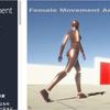Female Movement Animset Pro モーションキャプチャによる170種類以上の「女性」アニメ&三人称視点のコントローラーセット