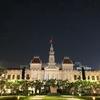 「ホーチミン人民委員会庁舎」の昼と夜@ベトナム
