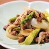 ユリ科野菜の底力!アスパラと玉ねぎのにんにく醤油ソテーのレシピ