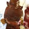 3月3日の1日1作は!!マホガニー色のヘンローン社生まれのクロコでお財布を作りました!!