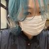 久しぶりに美容師っぽいカラーでイメチェン【エメラルドグリーン】【ブルマヘア】