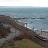 羽越・磐西撮影旅行(5):間島俯瞰は「最高の曇天」,三面川橋梁は嵐。