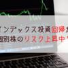 【インデックス投資】回帰?個別株のリスクが上昇中か