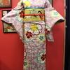 桜色地桜柄小紋×黄色地桜総刺繍名古屋帯