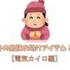 冬の勉強お助けアイテム【電気カイロ編】