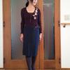 肥っても痩せても着られる巻きスカートは食欲の秋に便利