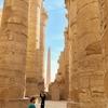 エジプト ルクソール カルナック神殿複合体 アメン神殿観光、圧倒される134本の巨大な柱「大列柱室」