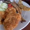 幸運な病のレシピ( 1041 )朝:鶏むねフライ、ハタハタ一夜干のフリッタ、海藻(ながも)の味噌汁、後片付け